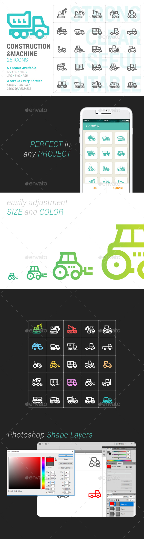 Construction & Machine Mini Icon - Objects Icons