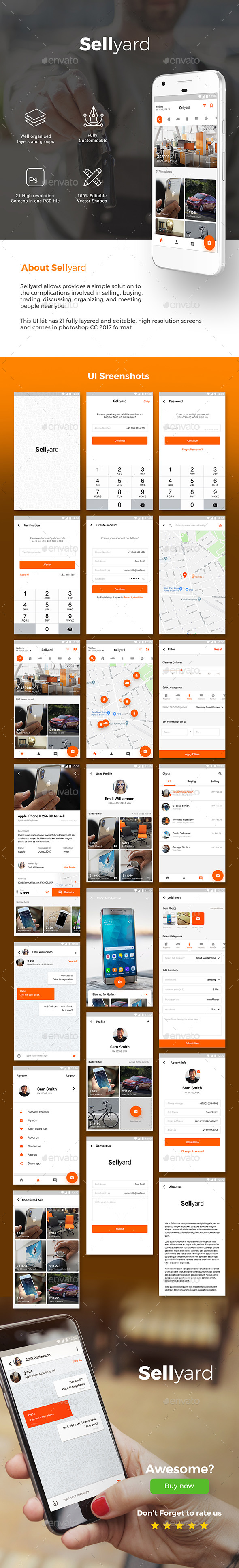 Classifieds Re-seller marketplace App UI | Sellyard - User Interfaces Web Elements