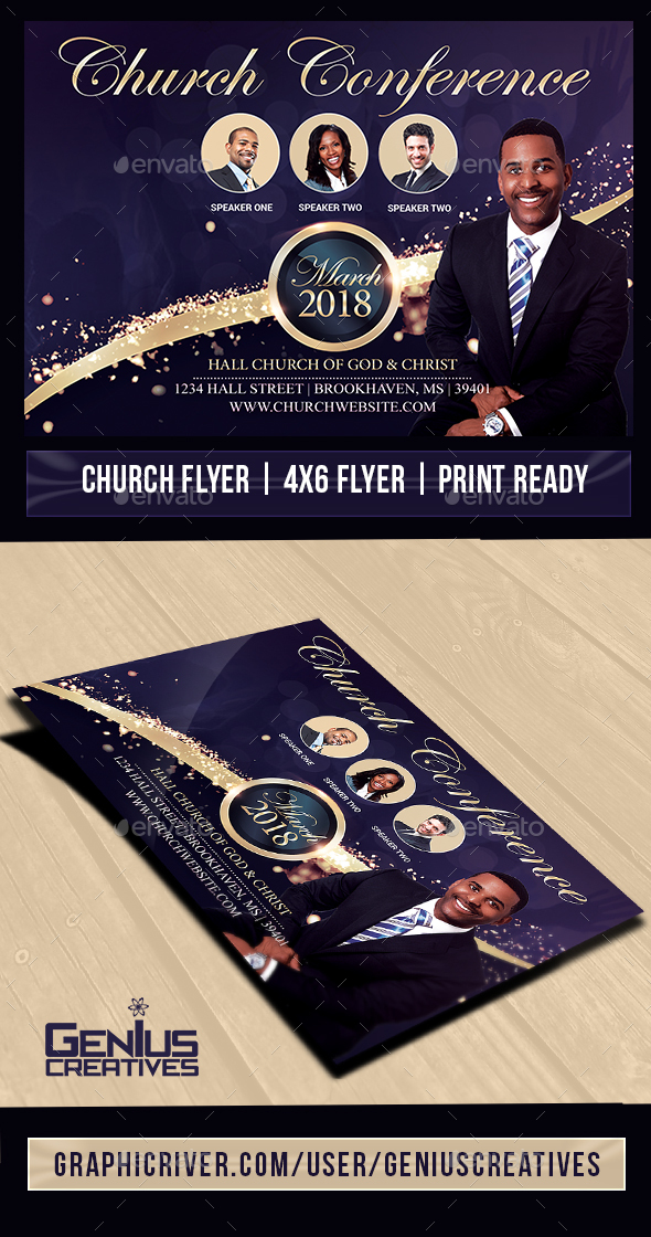Giving Praise Church Flyer V2 - Church Flyers