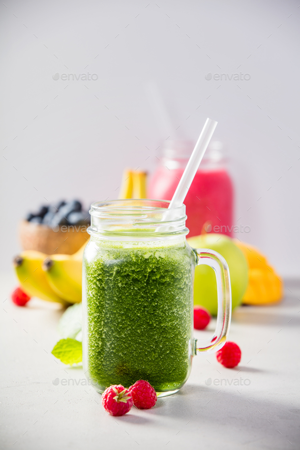 fresh smoothie - Stock Photo - Images