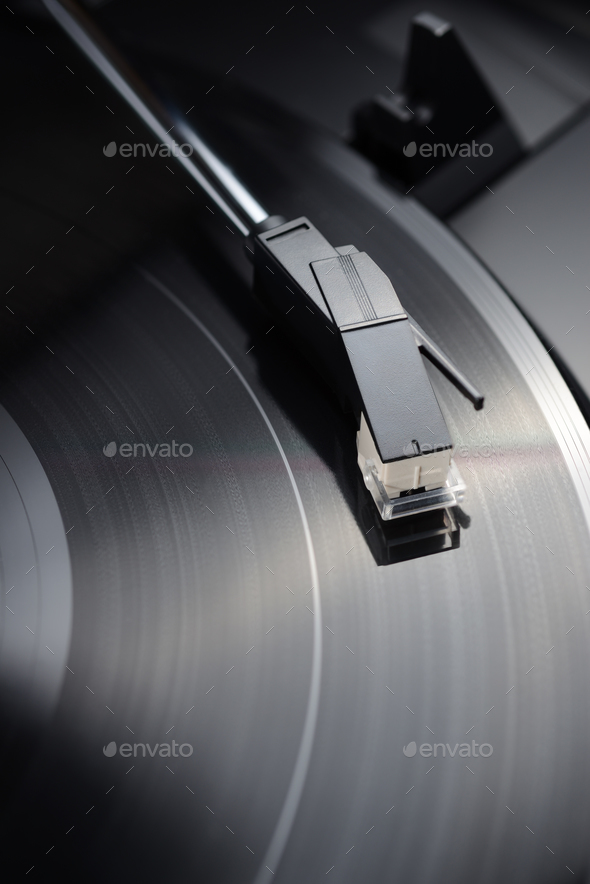 Vintage vinyl player - Stock Photo - Images