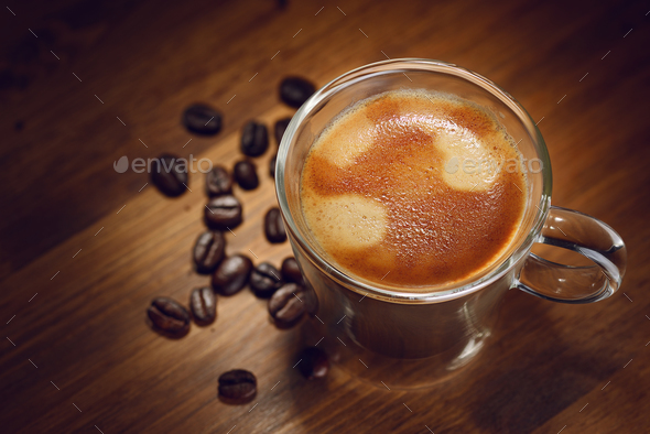 Espresso coffee cup - Stock Photo - Images