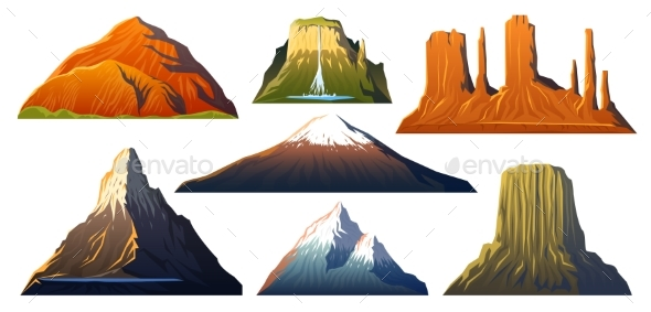 Mountains Peaks, Landscape Early in a Daylight - Nature Conceptual