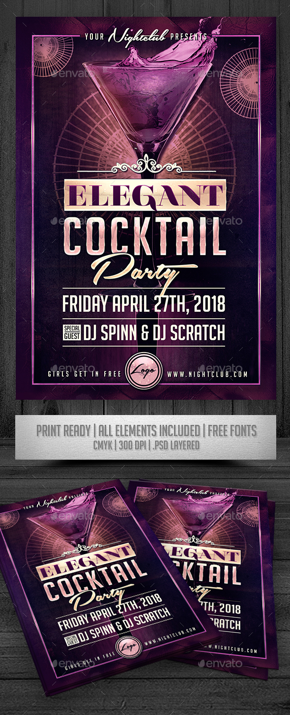 Elegant Cocktail Party - Events Flyers