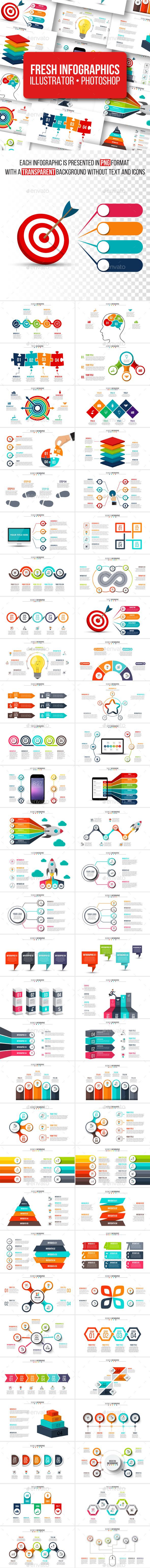 Fresh infographics pack - Infographics