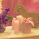 Candles, Toys, Flowers, on the Table in the Restaurant. Beautiful Composition for Children's - VideoHive Item for Sale