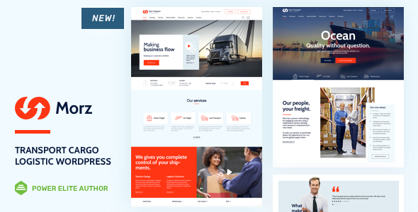 Morz - Transport  Cargo  Logistic WordPress - Business Corporate