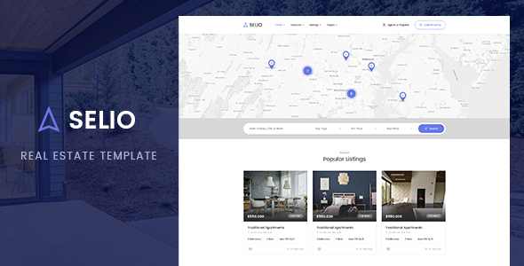 Selio - Real Estate PSD Template - Corporate PSD Templates