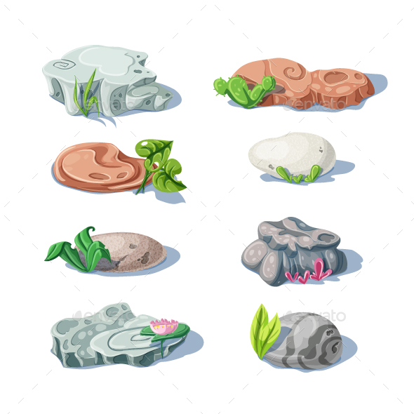 Stones and Rocks - Organic Objects Objects