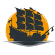 Sailing Ship Sun Logo