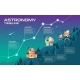 Astronomy Timeline Vector Concept Illustration