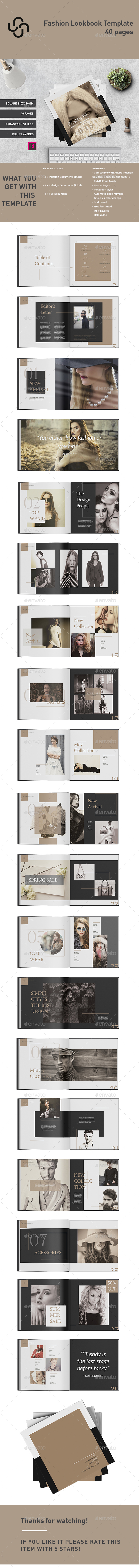 Fashion Lookbook Template - Magazines Print Templates