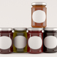 Jar of jam over white background. 3D Illustration. - PhotoDune Item for Sale