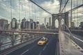 Famous Brooklyn Bridge with cab - PhotoDune Item for Sale