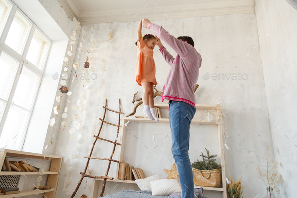 father and daughter on vacation - Stock Photo - Images