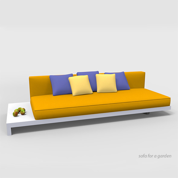 Sofa for a garden. - 3DOcean Item for Sale