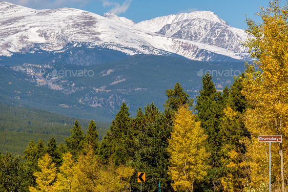 Season changing from autumn to winter - Stock Photo - Images