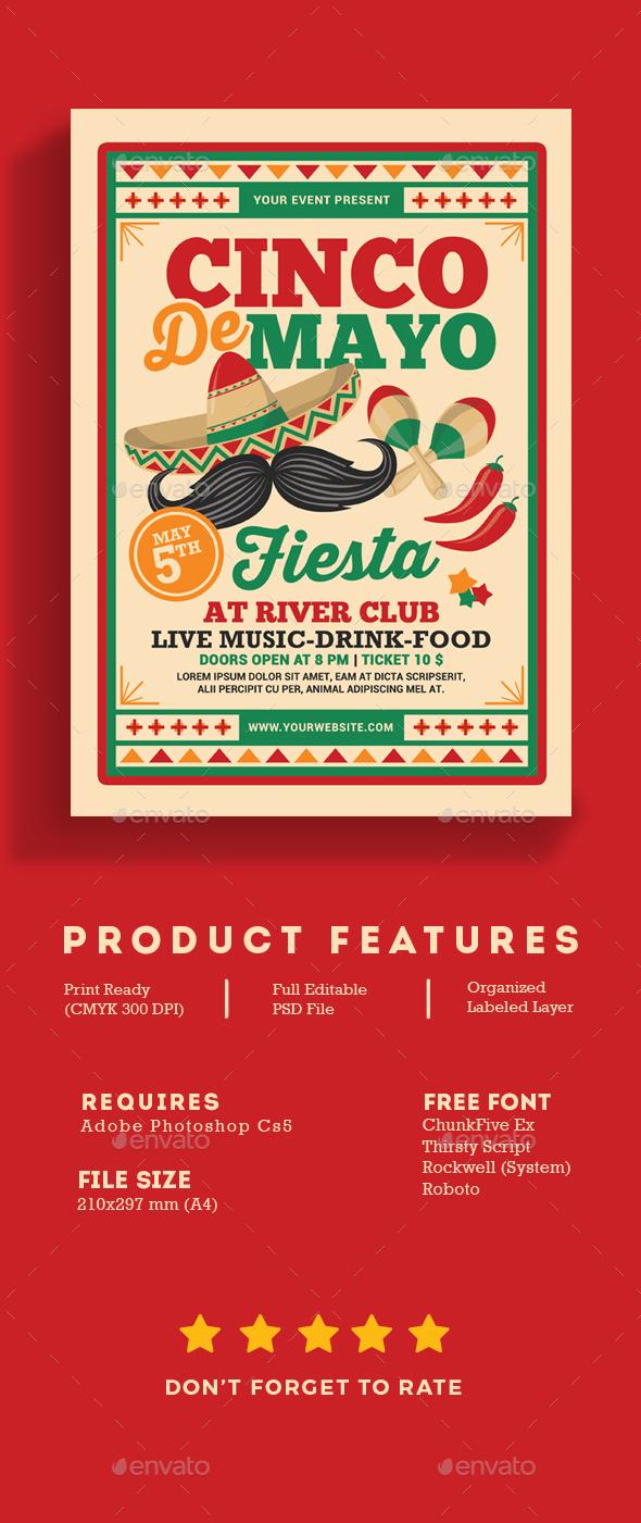 Cinco De Mayo Fiesta Flyer - Events Flyers