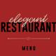 Elegant Restaurant Menu