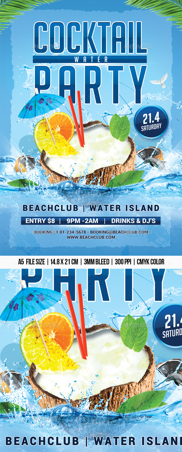 Cocktail Water Party - Clubs & Parties Events