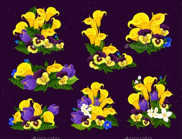 Flower and Blooming Garden Plant Icon Design - Flowers & Plants Nature