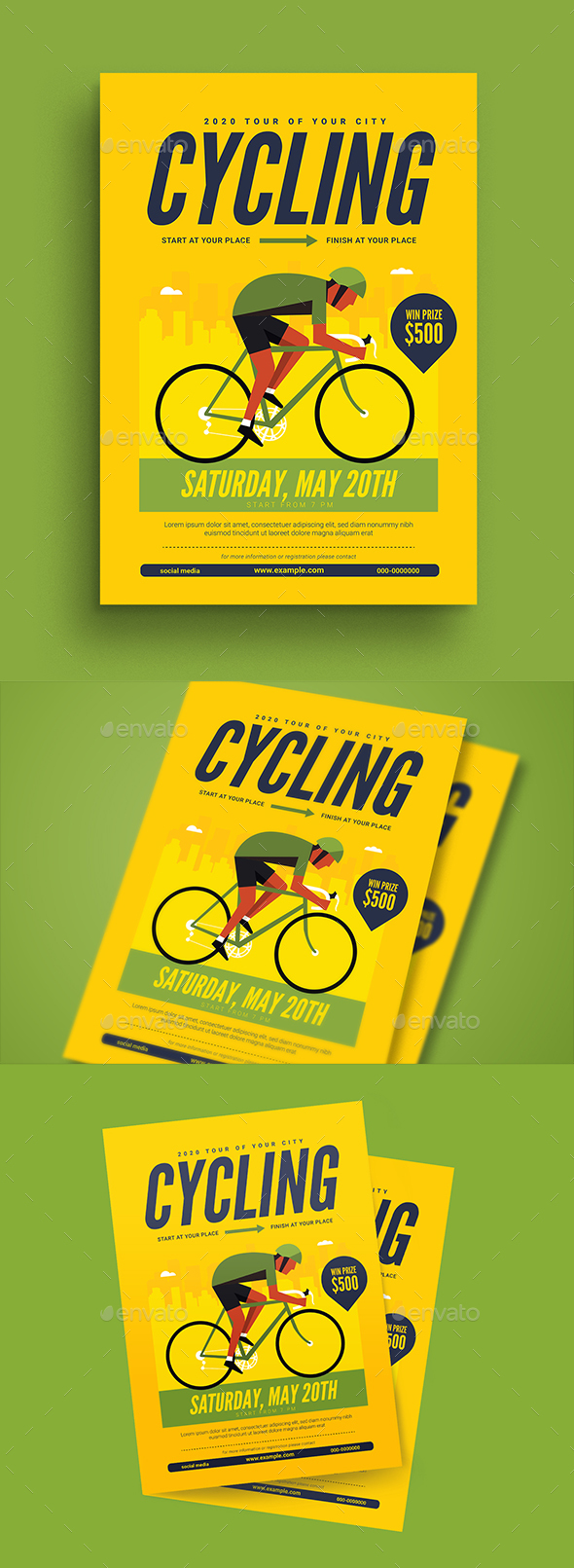 Cycling Flyer - Sports Events