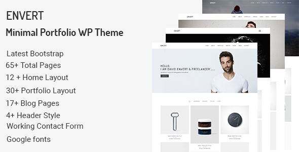 Envert - Minimal Portfolio WordPress Theme - Portfolio Creative