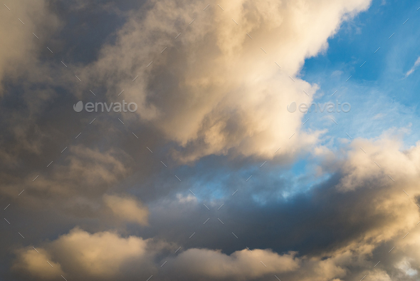 clouds at sunset - Stock Photo - Images