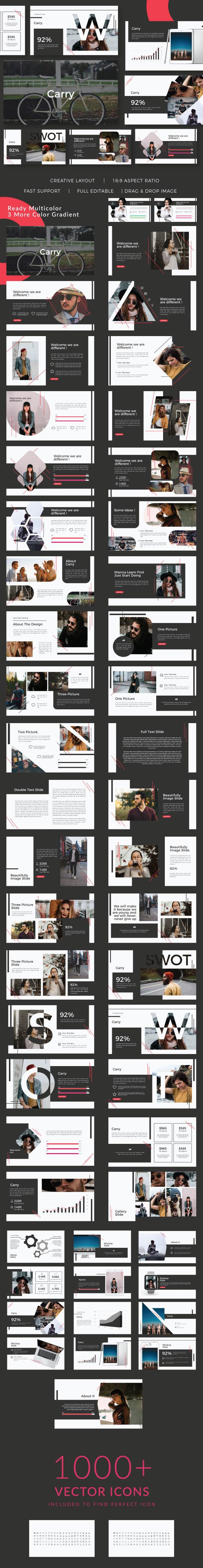 Carry Presentation Google Slide - Google Slides Presentation Templates