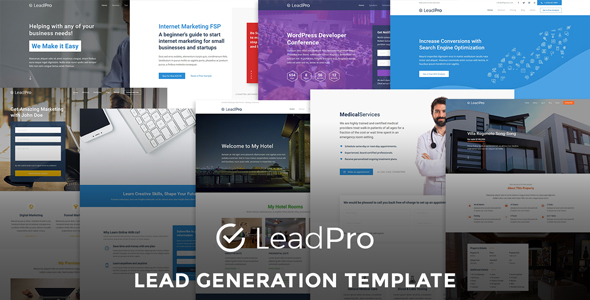 LeadPro - Lead Generation Responsive Template - Marketing Corporate