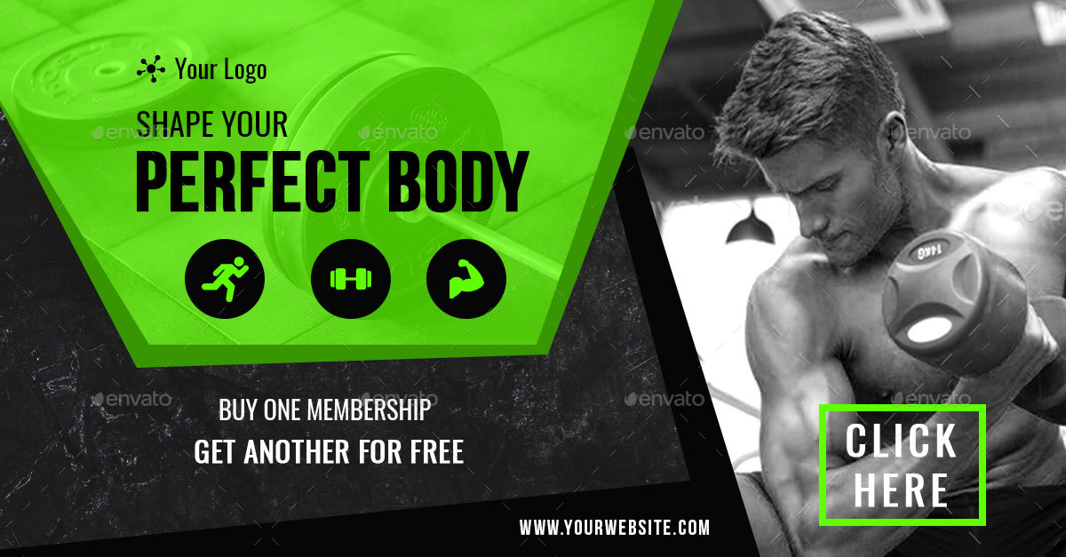 Fitness and Gym Facebook Ad Banners - AR