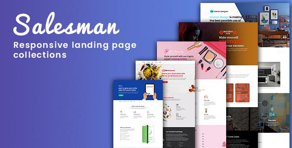 Salesman - Responsive Landing Page Template - Site Templates