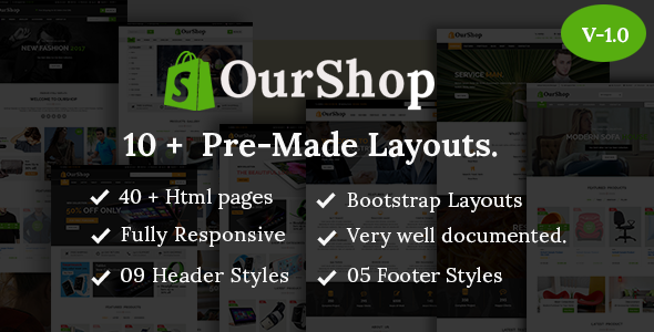 Ourshop - Multipurpose eCommerce Bootstrap Template.