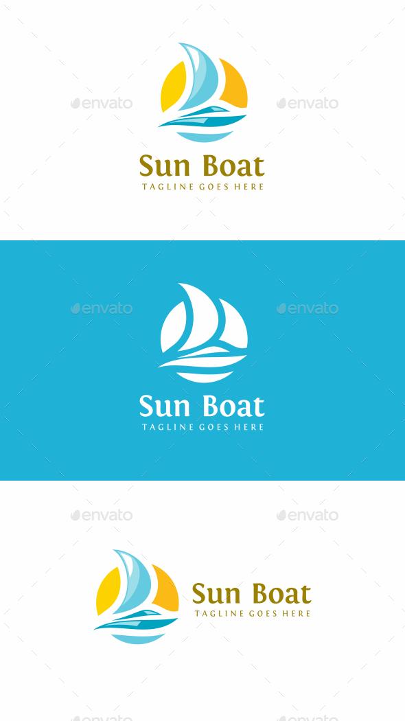 Sun Boat Logo - Objects Logo Templates