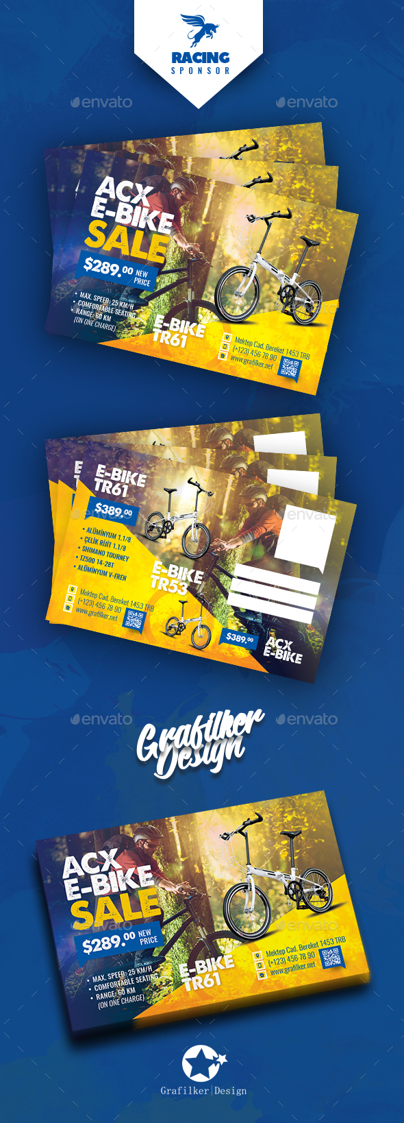 Bicycle Sales Postcard Templates - Cards & Invites Print Templates