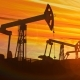 Looped Working Oil Pump Jacks Against Dusk - VideoHive Item for Sale