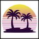 Retro Beach Logo