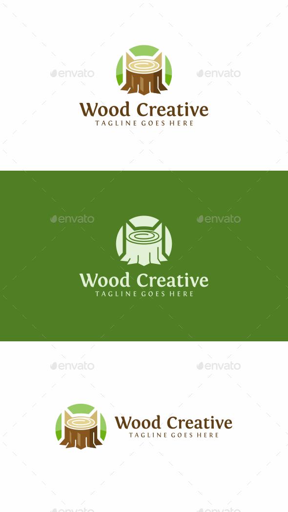 Wood Stump Logo - Objects Logo Templates