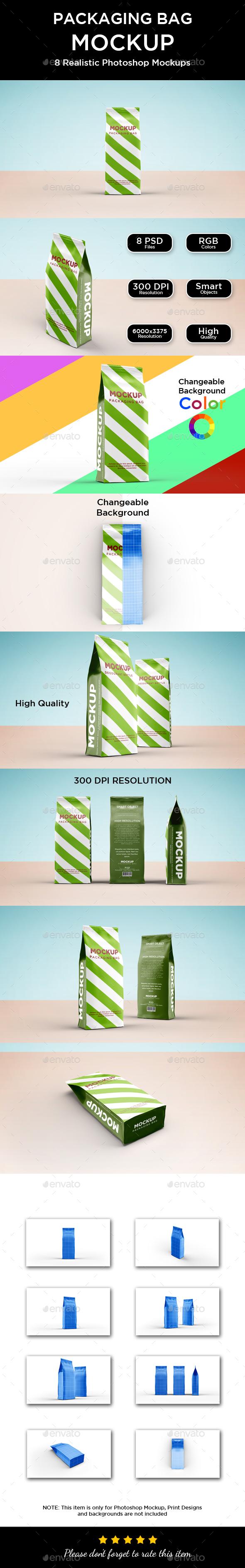 Packaging Paper Bag Mockup - Packaging Product Mock-Ups