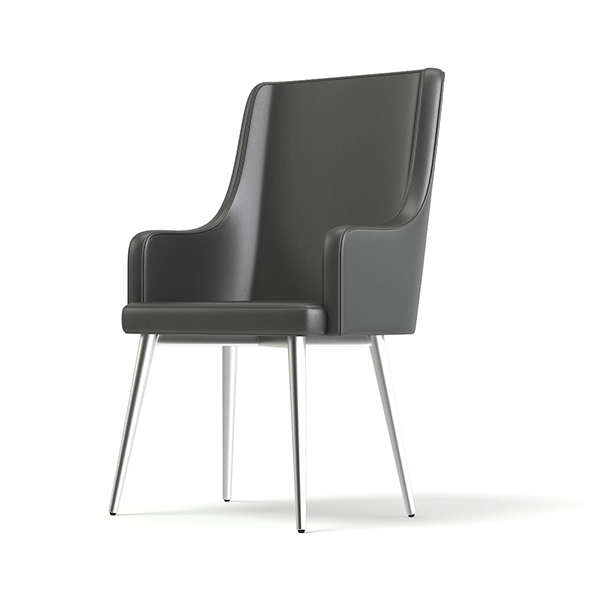 Tall Grey Armchair 3D Model - 3DOcean Item for Sale