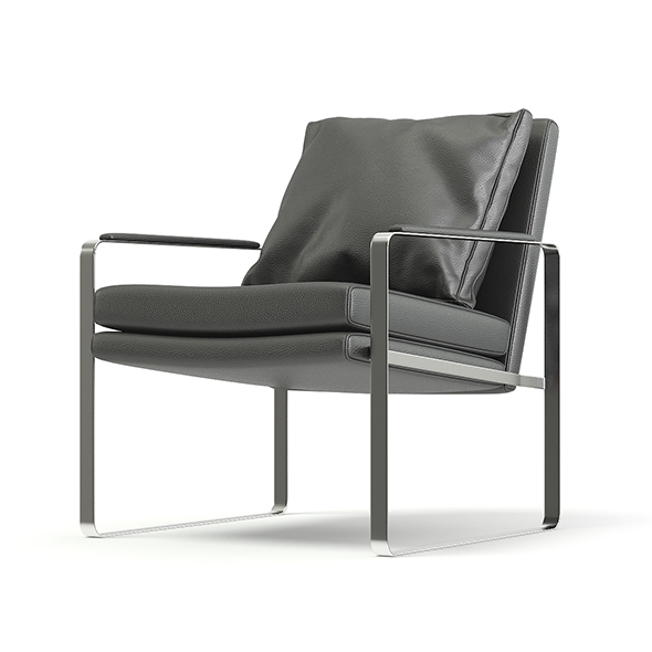 Metal and Leather Chair with Pillow 3D Model - 3DOcean Item for Sale