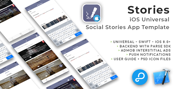 Stories | iOS Universal Fun Social Stories App Template (Swift) - CodeCanyon Item for Sale