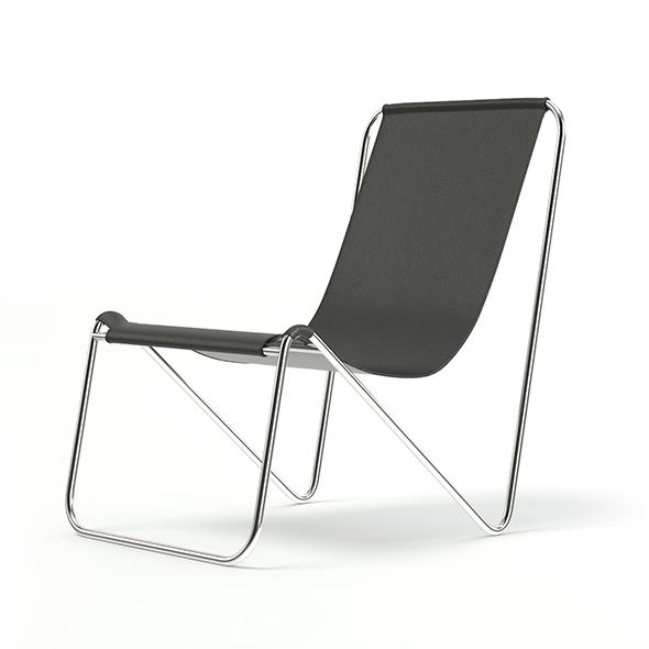 Simple Metal Chair 3D Model - 3DOcean Item for Sale