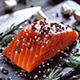 Raw Salmon Steak with Spices and Herbs. - VideoHive Item for Sale