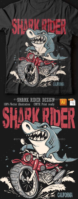 Shark Rider - T-Shirts