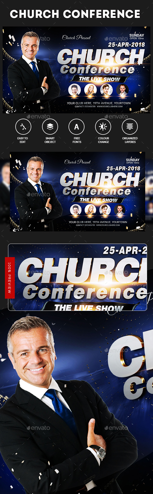 Speaker's Conference Church Flyer - Events Flyers