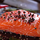 Raw Salmon Fillet with Peppers and Spices. - VideoHive Item for Sale