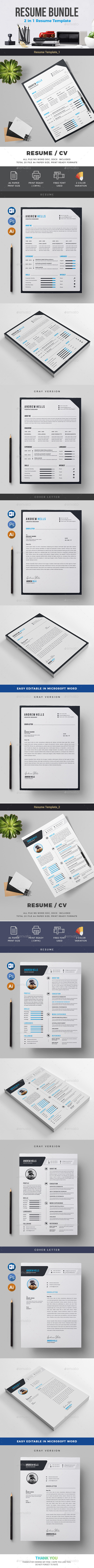 Resume Bundle 2 in 1 - Resumes Stationery