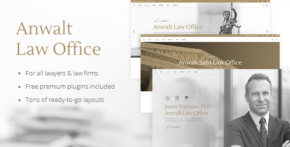 Anwalt - A Lawyer and Law Office Theme - Business Corporate