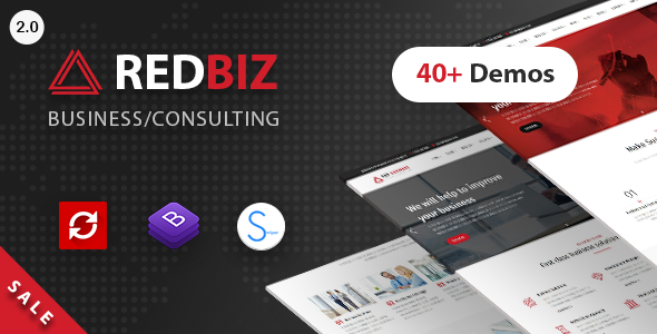 Image of RedBiz - Business & Consulting Multi-Purpose Template